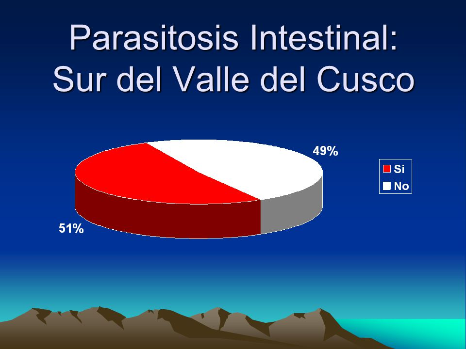 Parasitosis Intestinal: Sur del Valle del Cusco