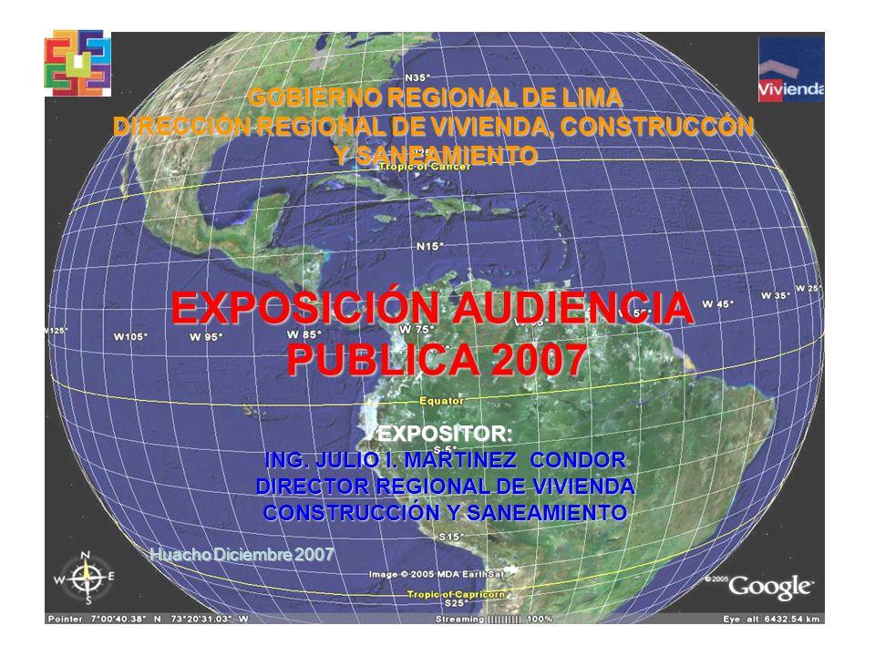 EXPOSITOR: ING. JULIO I.