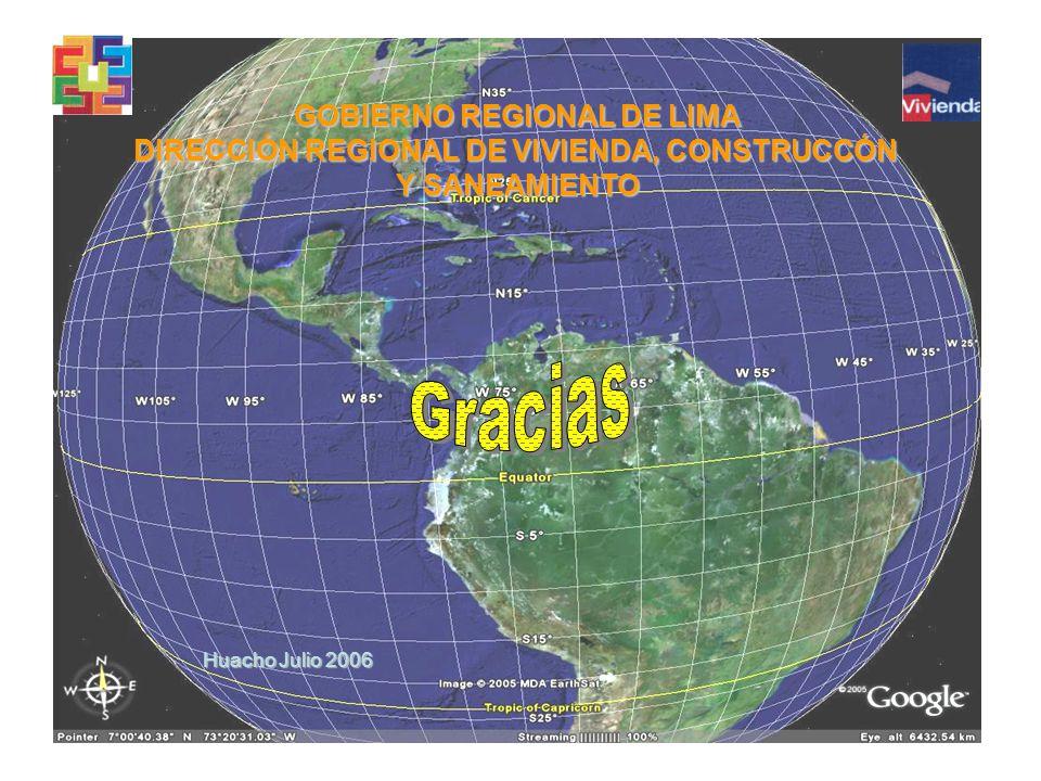 Huacho Julio 2006 GOBIERNO REGIONAL DE LIMA DIRECCIÓN REGIONAL DE VIVIENDA, CONSTRUCCÓN Y SANEAMIENTO