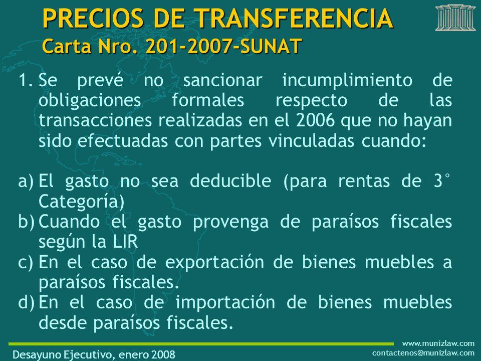 www.munizlaw.com contactenos@munizlaw.com PRECIOS DE TRANSFERENCIA Carta Nro.