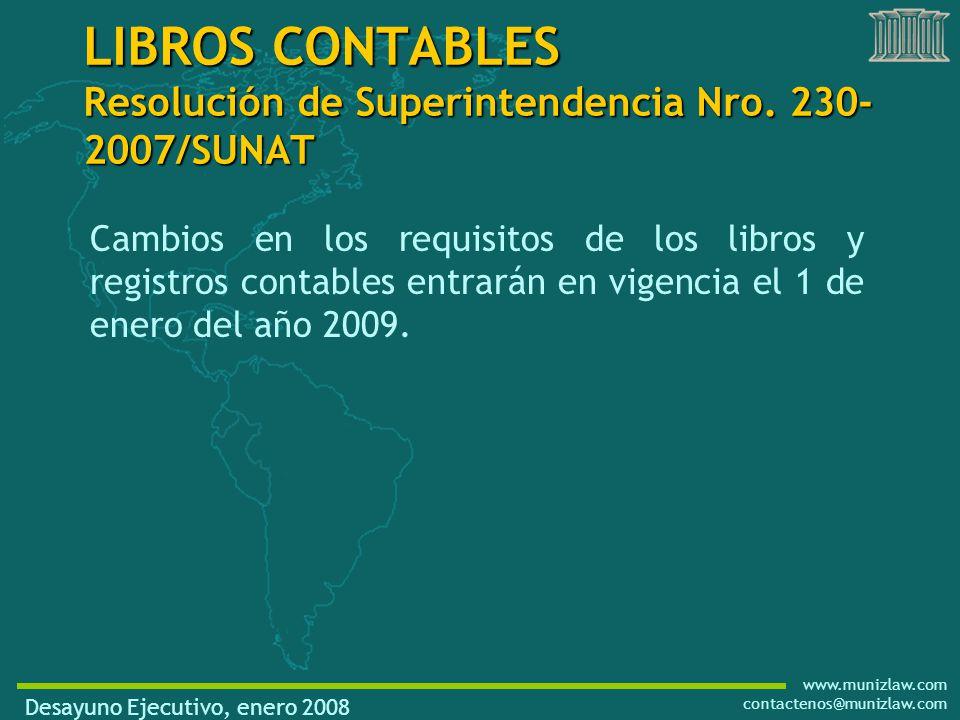 www.munizlaw.com contactenos@munizlaw.com LIBROS CONTABLES Resolución de Superintendencia Nro.