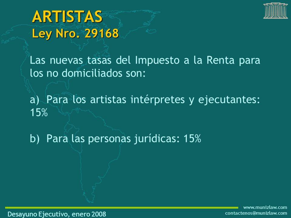 www.munizlaw.com contactenos@munizlaw.com ARTISTAS Ley Nro.