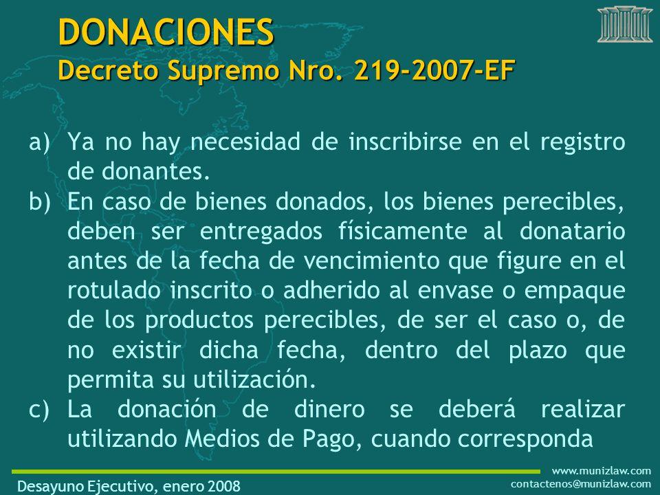 www.munizlaw.com contactenos@munizlaw.com a)Ya no hay necesidad de inscribirse en el registro de donantes.