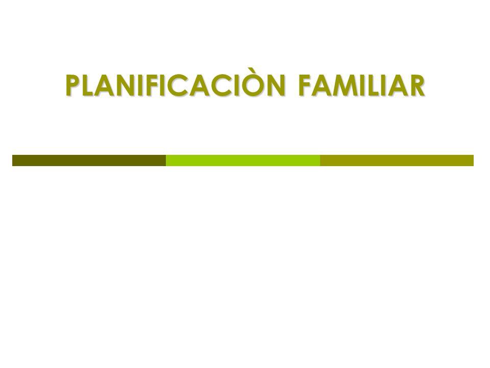 PLANIFICACIÒN FAMILIAR