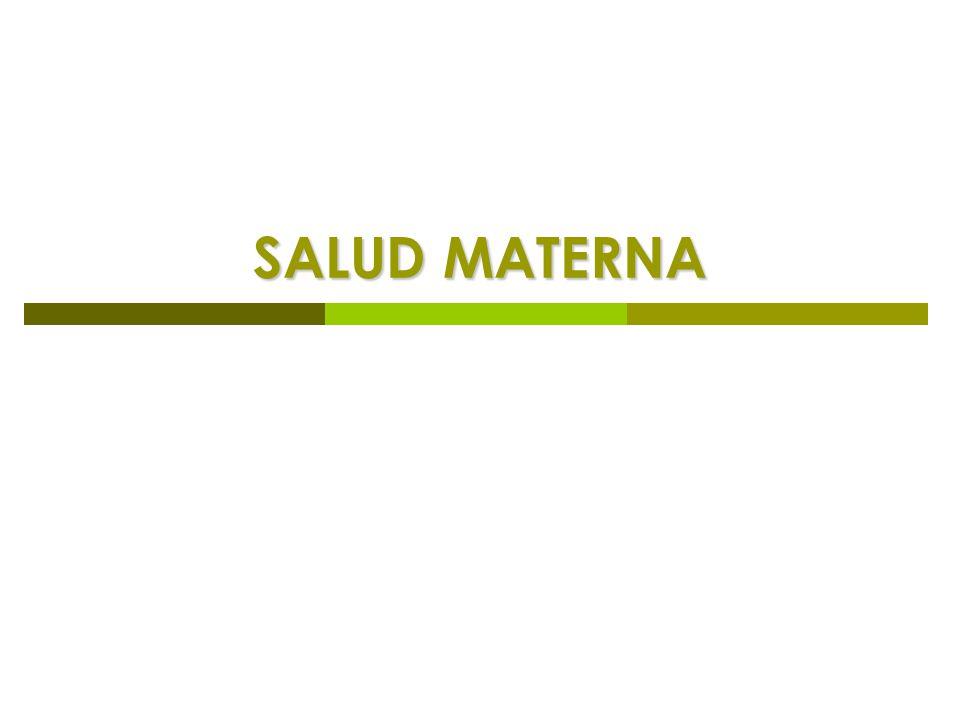 SALUD MATERNA