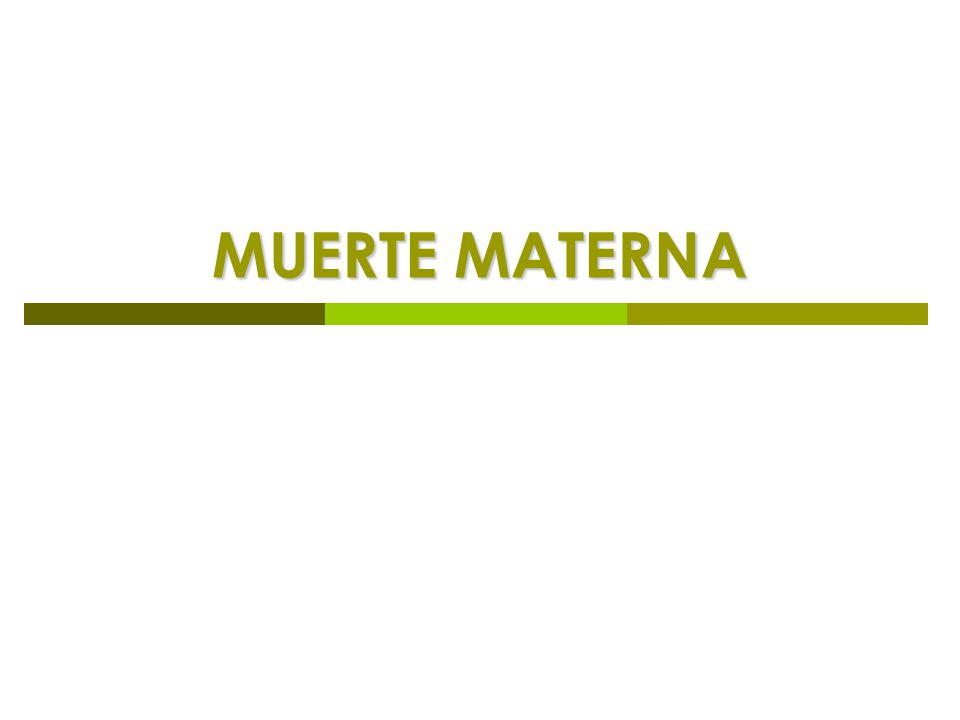 MUERTE MATERNA
