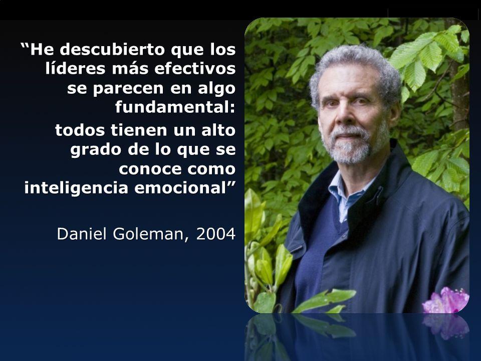 Innovación es lo que distingue al líder de los seguidores He descubierto que los líderes más efectivos se parecen en algo fundamental: todos tienen un alto grado de lo que se conoce como inteligencia emocional Daniel Goleman, 2004