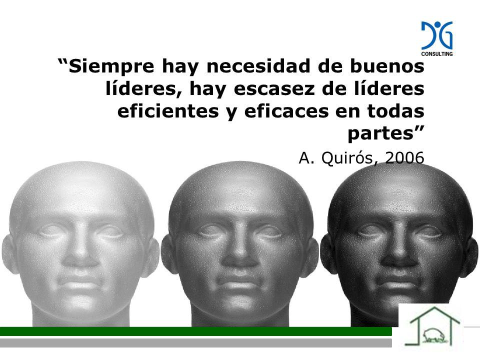 Siempre hay necesidad de buenos líderes, hay escasez de líderes eficientes y eficaces en todas partes A.
