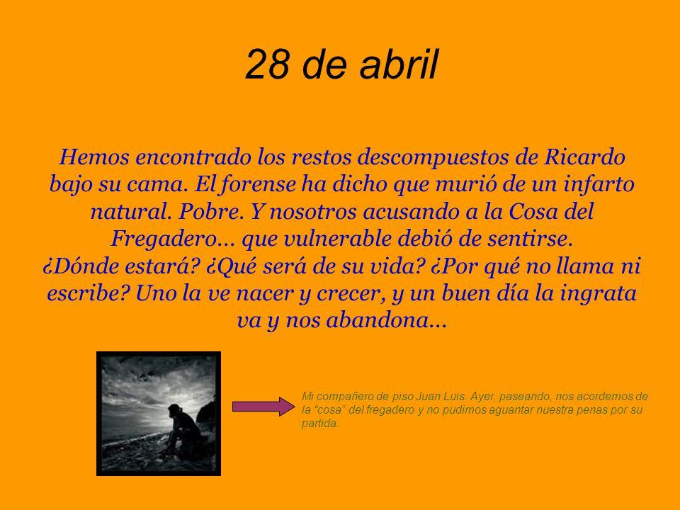 25 de abril Hoy me he levantado rebelde y, aprovechando mi paro forzoso, me he puesto a limpiar la casa.