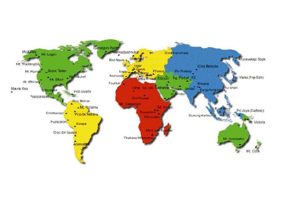 Picos mais altos do mundo MontanhaAltitude (metros)Países Everest8.848Nepal, China K2 (Godwin Austen)8.611China, Paquistão Kangchenjunga8.600Nepal, Índia Lhotse8.501Nepal, China Makalu8.481Nepal, China Dhaulagiri8.172Nepal Nanga Parbat8.126Paquistão Anapurna8.078Nepal Nanda Devi7.817Índia Comunismo7.495Tadjiquistão Lenine7.134Tadjiquistão Aconcágua6.960Argentina Ojos del Salado6.880Argentina, Chile Huascarán6.768Perú Llullaillaco6.723Argentina, Chile Mercedario6.700Argentina, Chile Sajama6.542Bolívia Chimborazo6.310Equador McKinley6.194Estados Unidos Logan5.951Canadá North Peak5.904Estados Unidos Kilimanjaro5.895Tanzânia Demavend5.671Irão Elbrus5.642Rússia