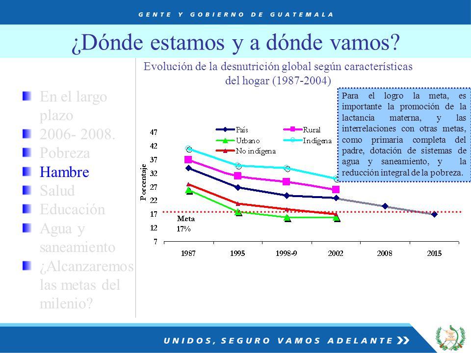 ¿Dónde estamos y a dónde vamos. En el largo plazo 2006- 2008.