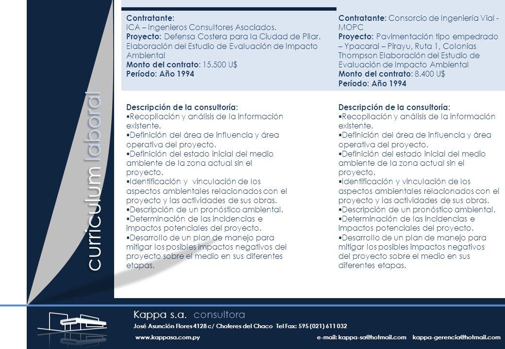 Contratante: ICA – Ingenieros Consultores Asociados.