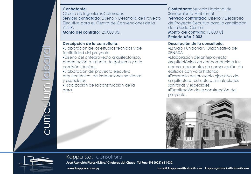 Contratante: Circulo de Ingenieros Colorados Servicio contratado: Diseño y Desarrollo de Proyecto Ejecutivo para el Centro de Convenciones de la A.N.R.