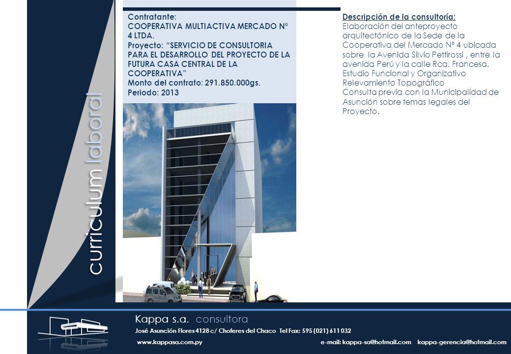 curriculum laboral Contratante: COOPERATIVA MULTIACTIVA MERCADO Nº 4 LTDA.
