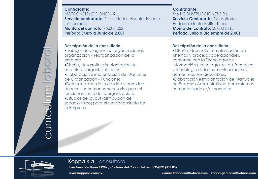 Contratante: M&TCONSTRUCCIONES S.R.L.