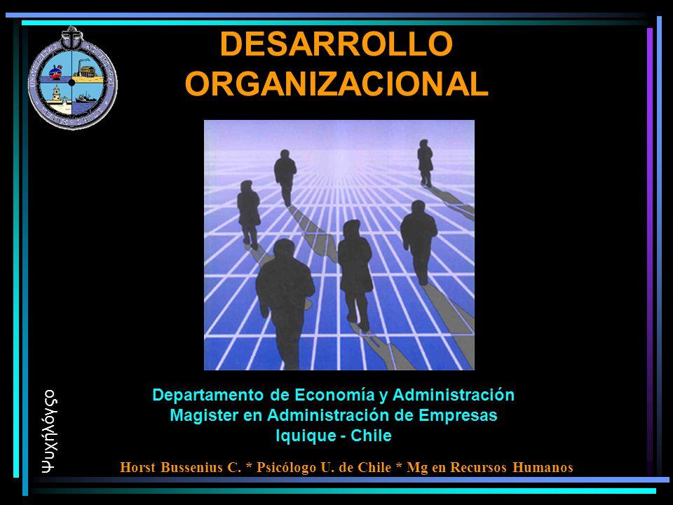 DESARROLLO ORGANIZACIONAL Departamento de Economía y Administración Magister en Administración de Empresas Iquique - Chile Ψυχήλόγςο Horst Bussenius C.