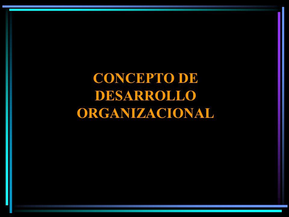 CONCEPTO DE DESARROLLO ORGANIZACIONAL