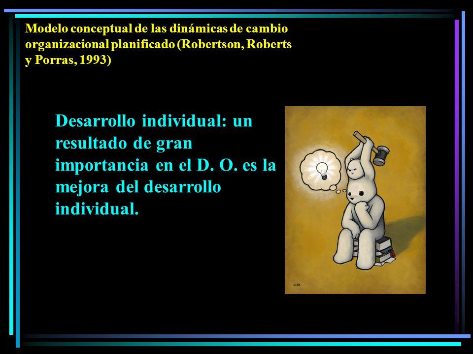 Desarrollo individual: un resultado de gran importancia en el D.