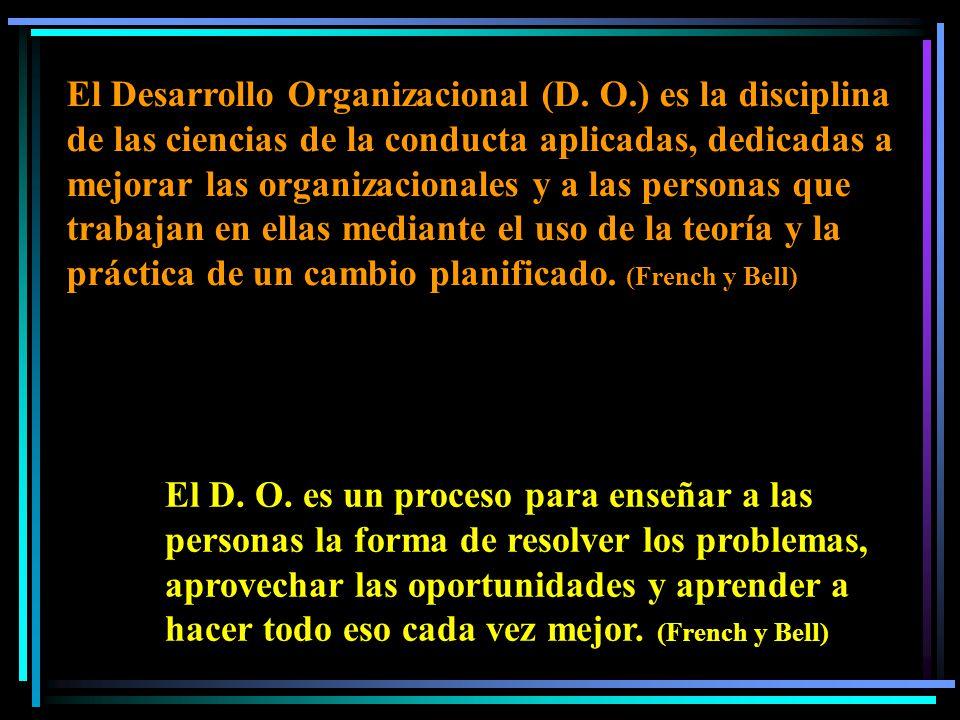 El Desarrollo Organizacional (D.