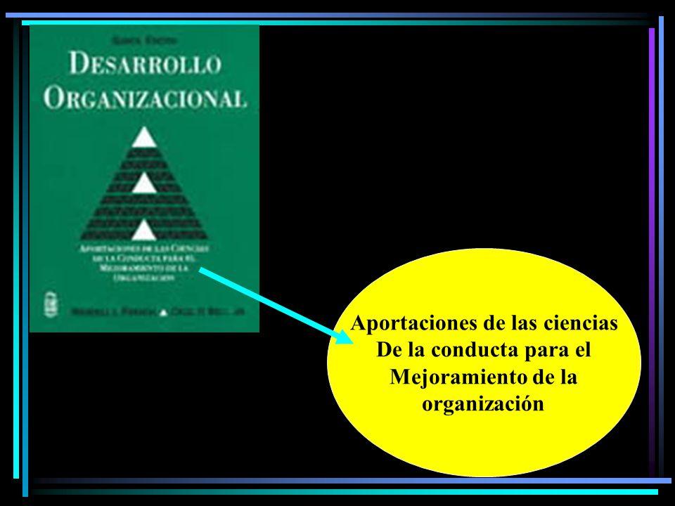 Aportaciones de las ciencias De la conducta para el Mejoramiento de la organización