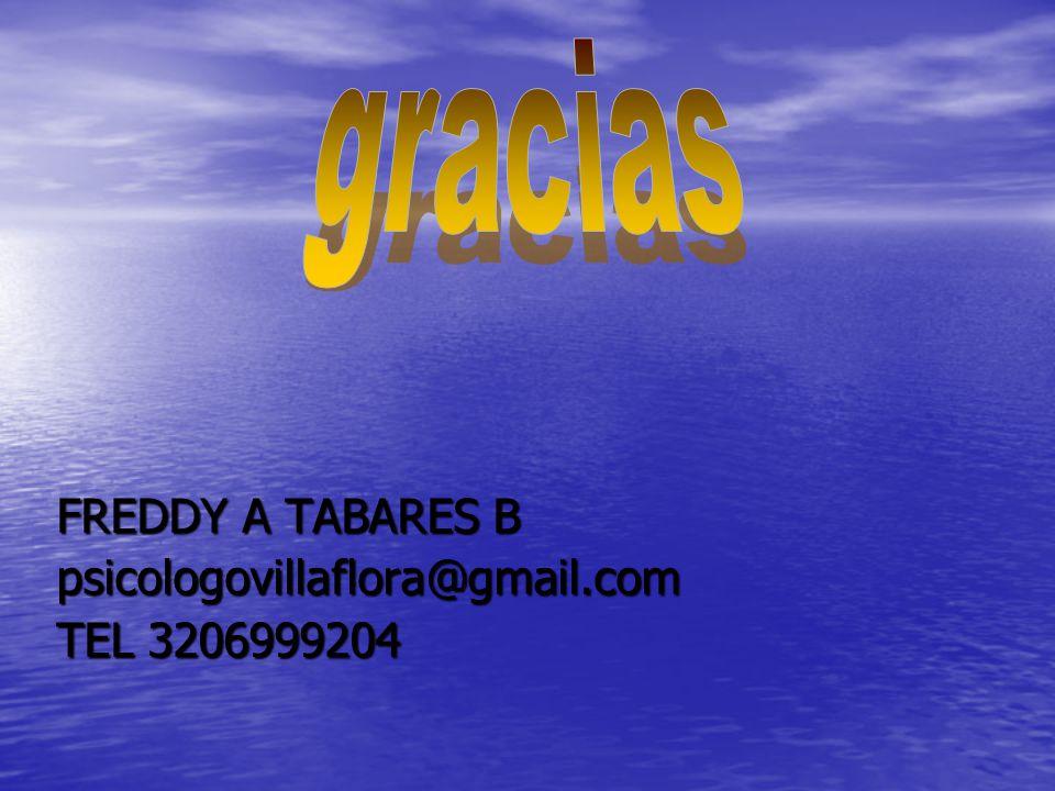 FREDDY A TABARES B psicologovillaflora@gmail.com TEL 3206999204