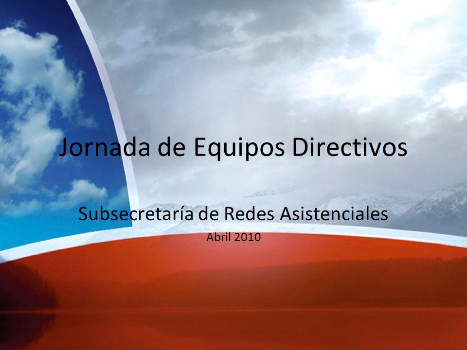 Jornada de Equipos Directivos Subsecretaría de Redes Asistenciales Abril 2010