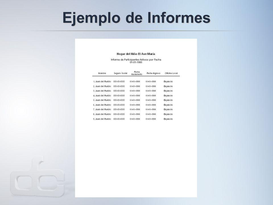 Ejemplo de Informes