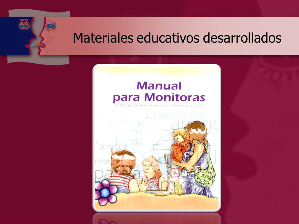 Materiales educativos desarrollados