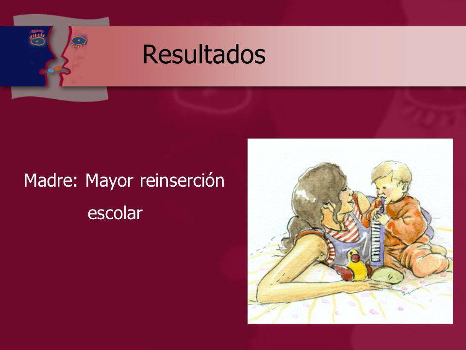 Resultados Madre: Mayor reinserción escolar