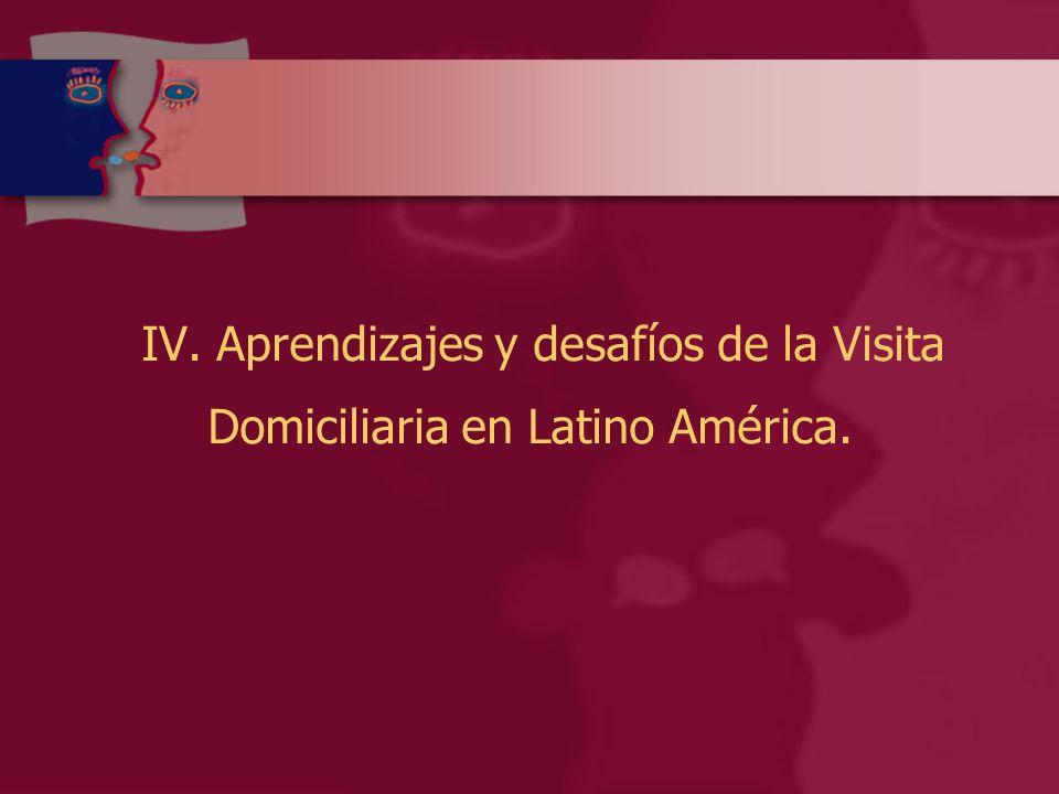 IV. Aprendizajes y desafíos de la Visita Domiciliaria en Latino América.