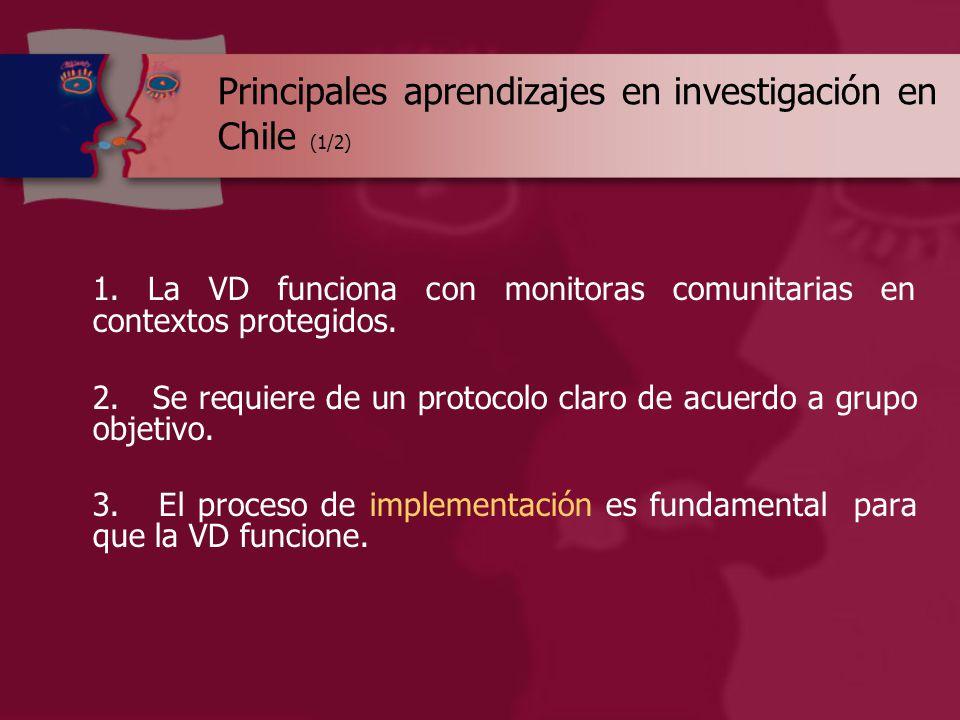 Principales aprendizajes en investigación en Chile (1/2) 1.