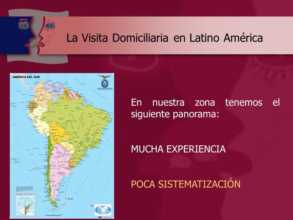 La Visita Domiciliaria en Latino América En nuestra zona tenemos el siguiente panorama: MUCHA EXPERIENCIA POCA SISTEMATIZACIÓN