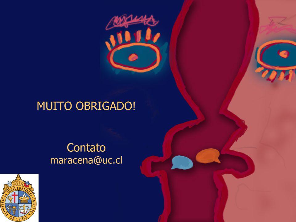 MUITO OBRIGADO! Contato maracena@uc.cl