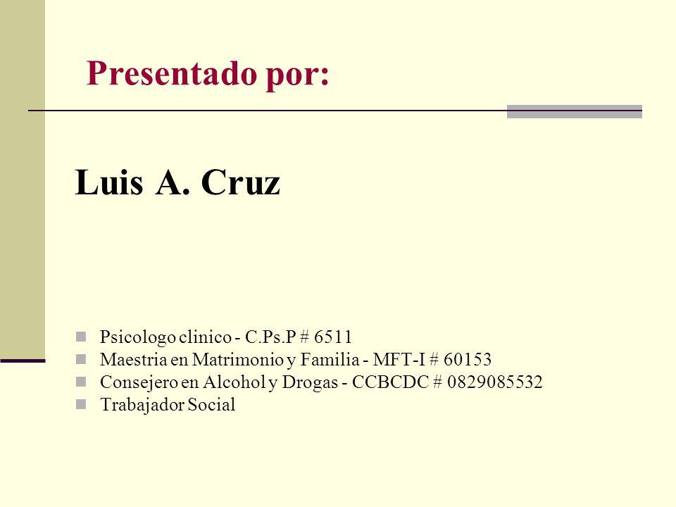 Presentado por: Luis A.
