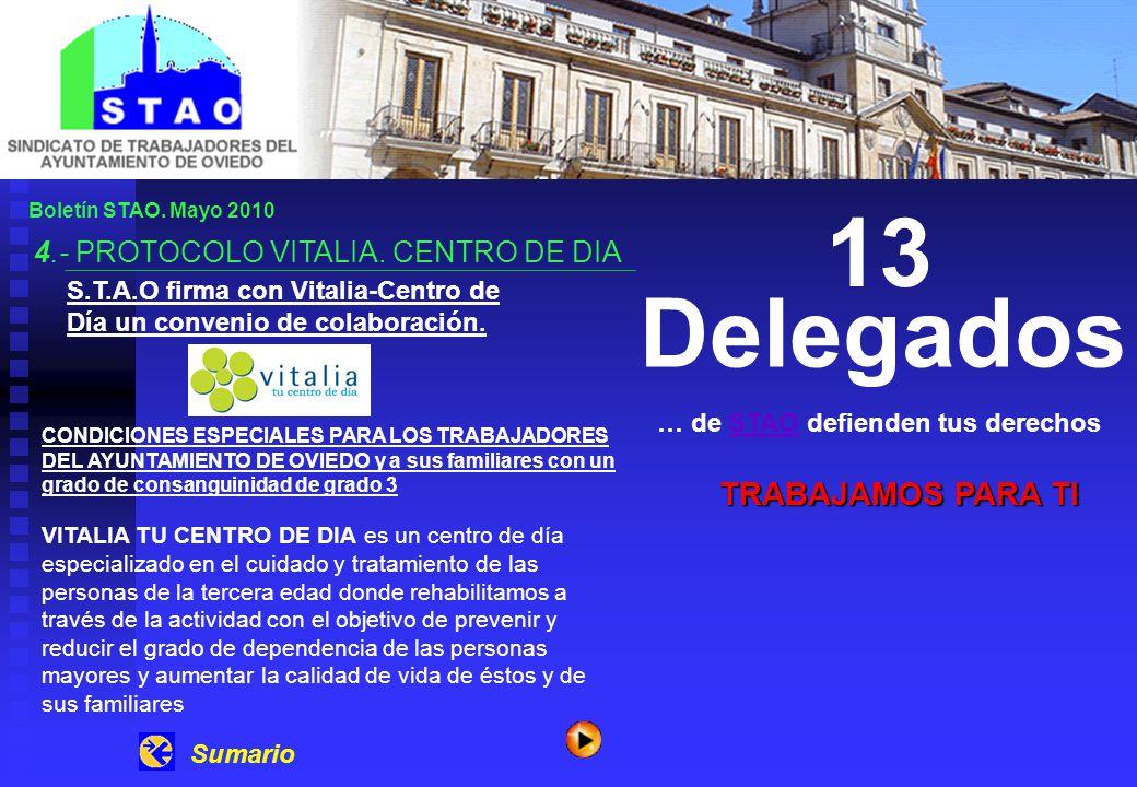 Boletín STAO. Mayo 2010 4.- PROTOCOLO VITALIA.