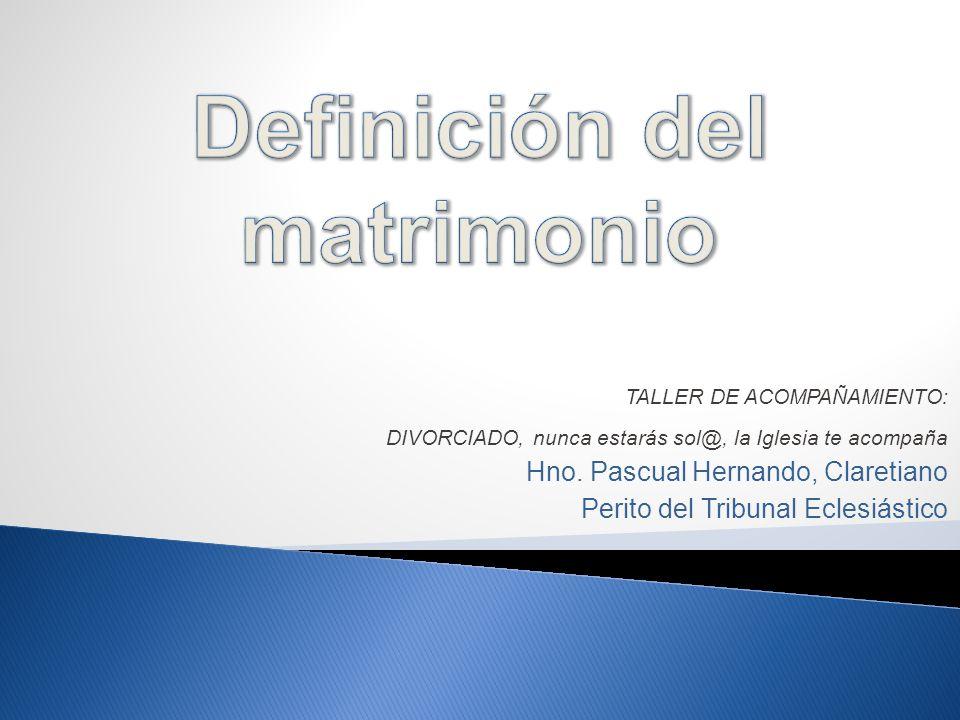 TALLER DE ACOMPAÑAMIENTO: DIVORCIADO, nunca estarás sol@, la Iglesia te acompaña Hno.