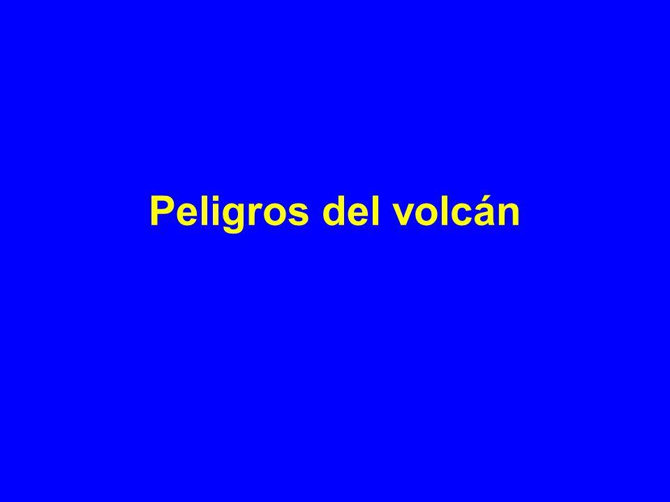Peligros del volcán