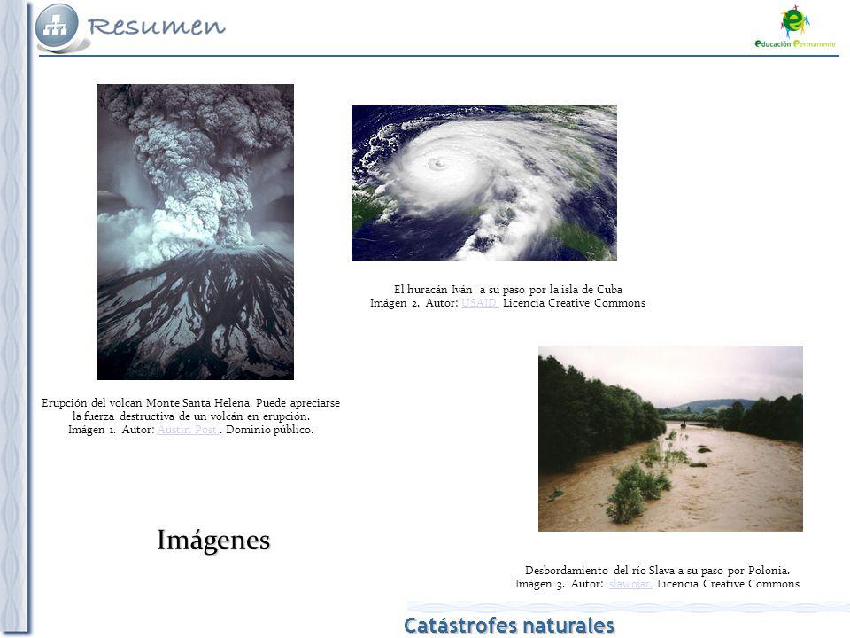 Catástrofes naturales Erupción del volcan Monte Santa Helena.