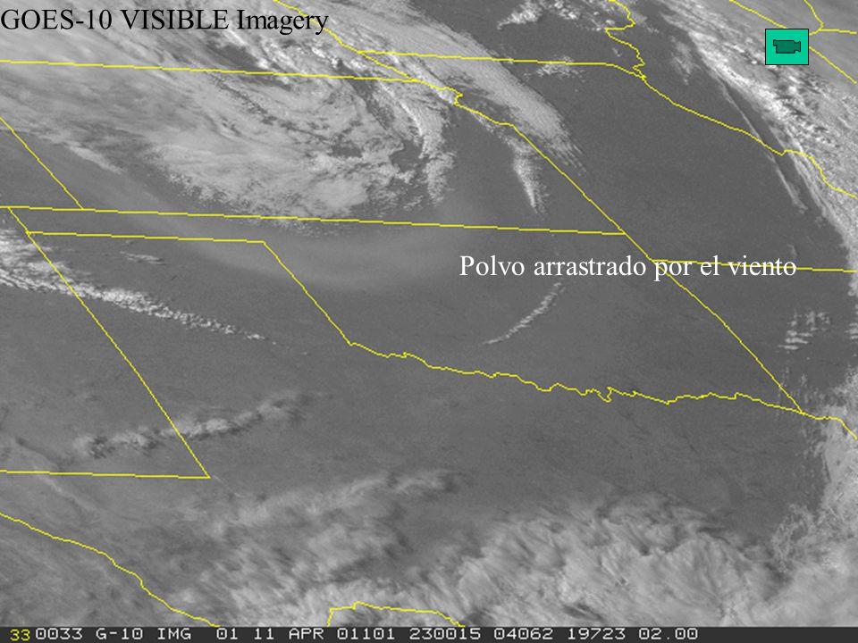 GOES-10 VISIBLE Imagery Polvo arrastrado por el viento