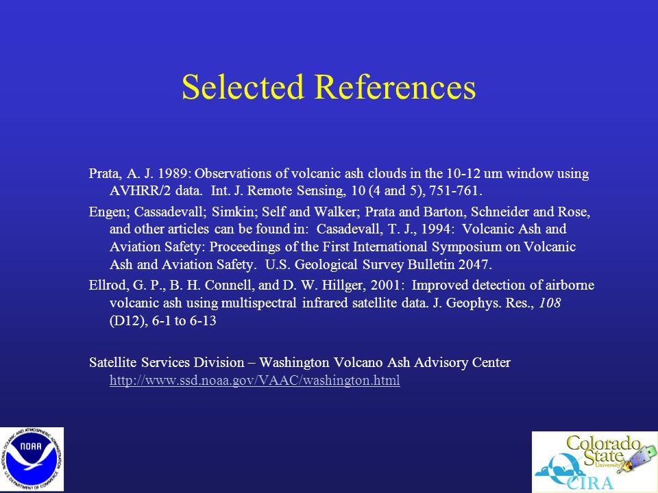 Selected References Prata, A. J.