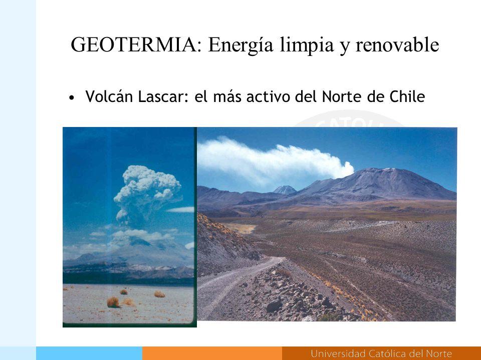 GEOTERMIA: Energía limpia y renovable Volcán Lascar: el más activo del Norte de Chile