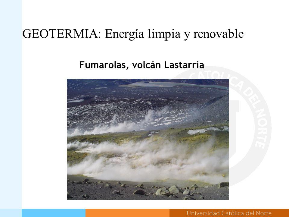 GEOTERMIA: Energía limpia y renovable Fumarolas, volcán Lastarria