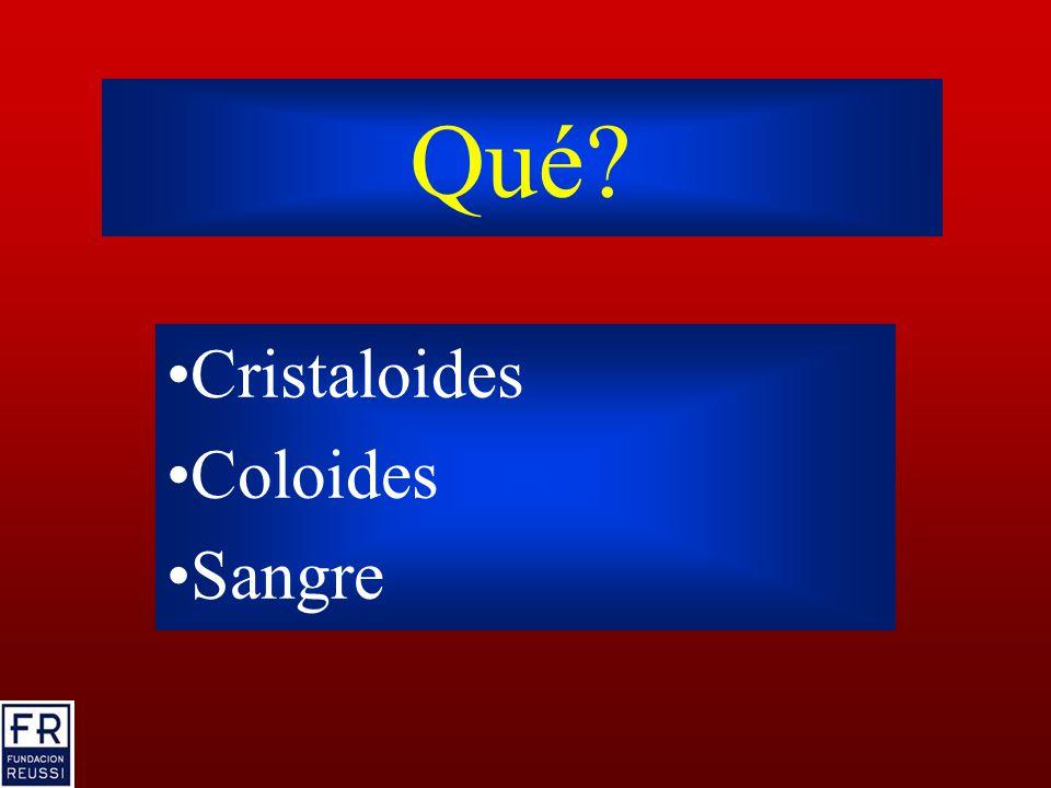 Qué Cristaloides Coloides Sangre