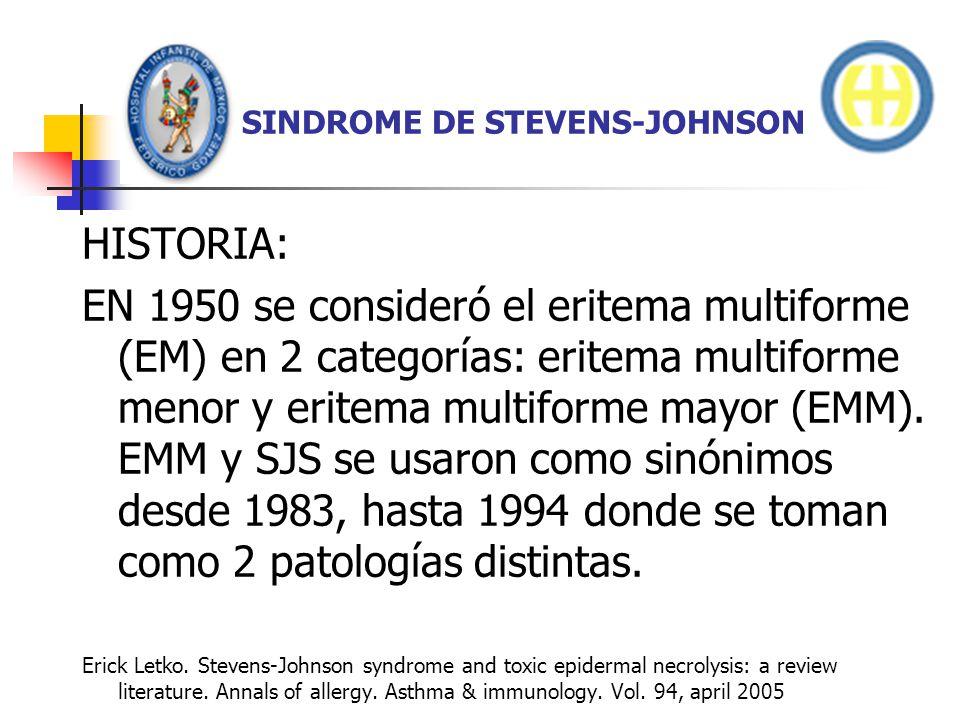 SINDROME DE STEVENS-JOHNSON DATOS DE LABORATORIO.Leucocitos normales.