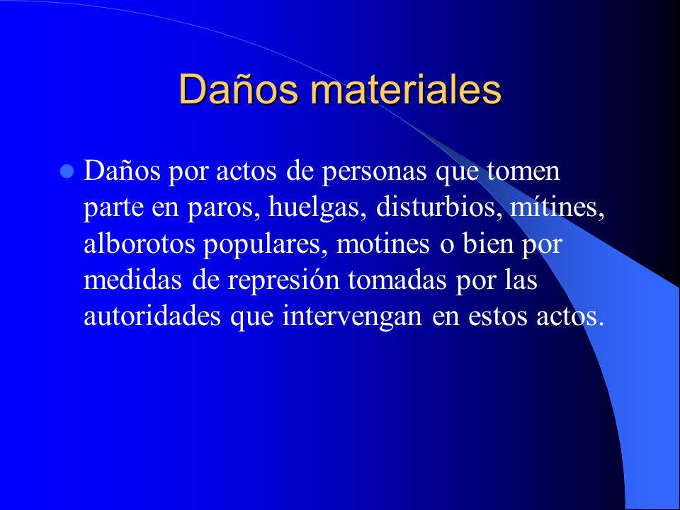 Daños Materiales Colisiones o choques con otros autos o con postes, árboles, casas, etc.