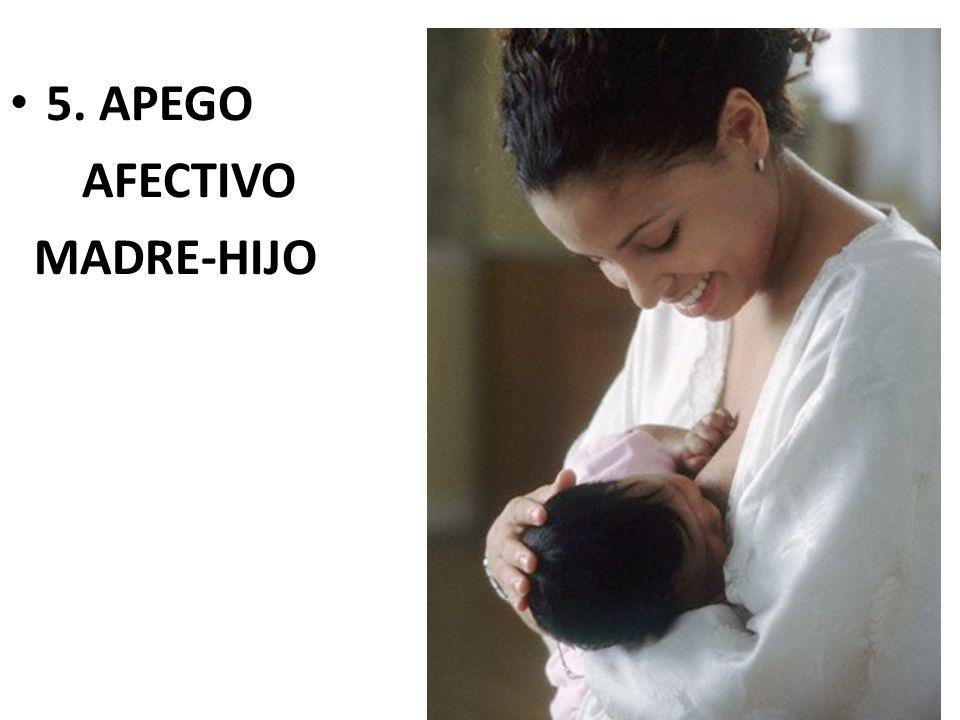 5. APEGO AFECTIVO MADRE-HIJO