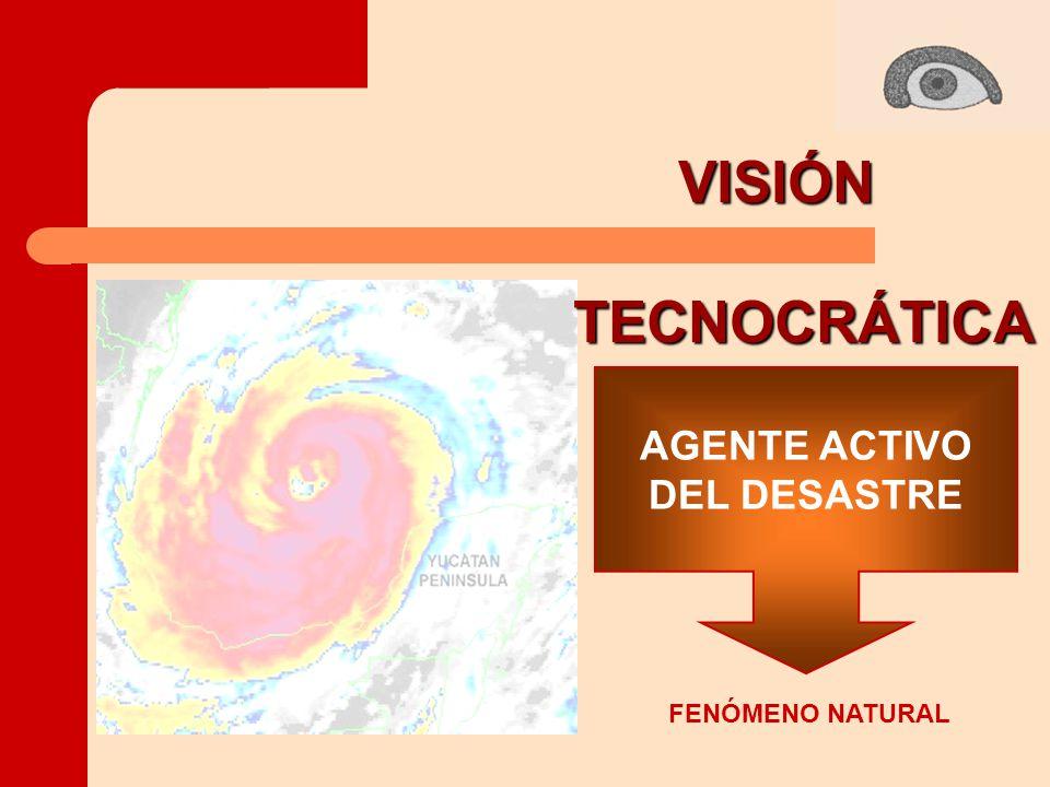 FENÓMENO NATURAL AGENTE ACTIVO DEL DESASTRE VISIÓNTECNOCRÁTICA