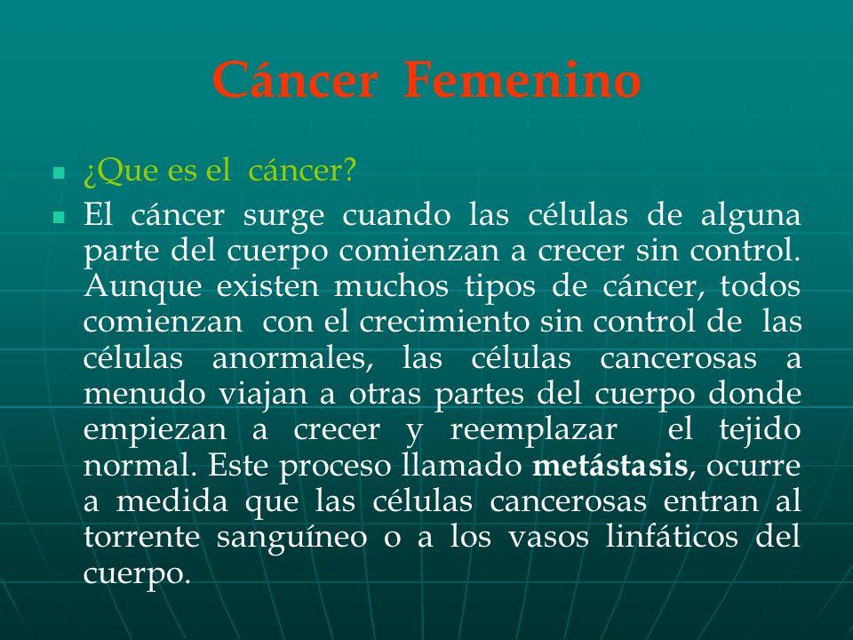 Cáncer Femenino ¿Que es el cáncer.