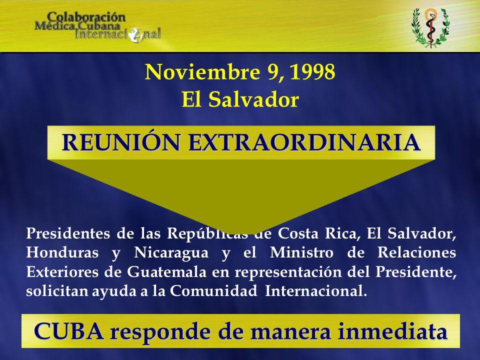 1998 - Días finales de Octubre y principios de Noviembre Huracanes George Mitch y