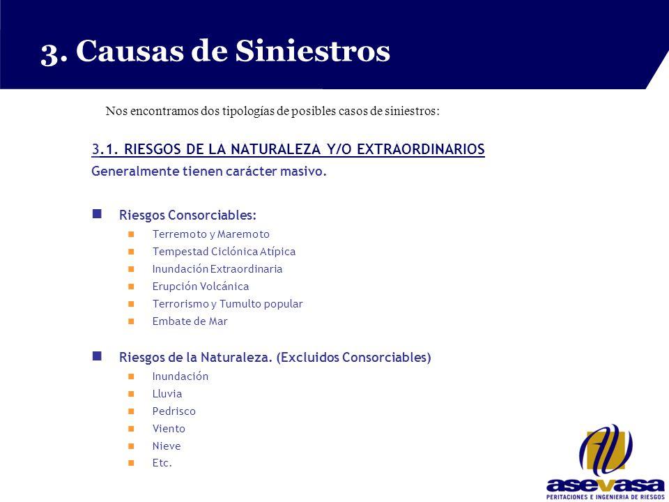 3. Causas de Siniestros 3.1. RIESGOS DE LA NATURALEZA Y/O EXTRAORDINARIOS.1.
